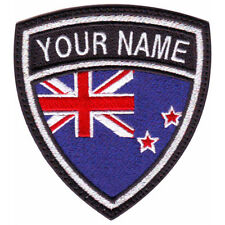 NEW ZEALAND CUSTOM CREST FLAG NAME EMBROIDERED PATCH