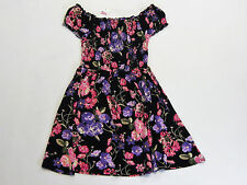 NWT Justice Kid Girls Size 7 8 10 12 or 14 Pink & Purple Flower Smocked Dress