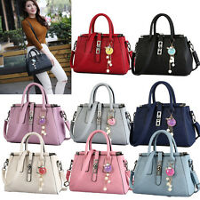 Fashion Womens PU Leather Clutch Handbag Shoulder Tote Messenger Cross Body Bag
