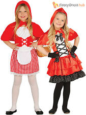 Girls Little Red Riding Hood Costume Childs Fairytale Fancy Dress Book Outfit