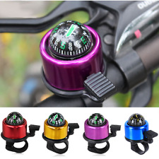 Metal Bike Compass Ring-down Bicycle Bell Ring Alarm Handlebar Safety Horn