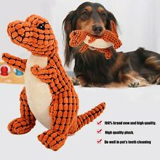Dinosaur Shape Dog Puppy Squeaky Toy Dog Interacting Teeth Cleaning Chew Toys OM