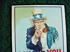 """1968 Vintage UNCLE SAM """" I WANT YOU FOR U.S. ARMY  Old Post Office Sign"""
