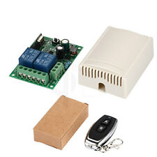 Wireless Remote Control Switch AC 220V 2CH Relay Receiver & RF Transmitter