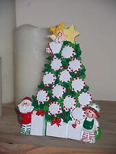 PERSONALISED FREE-STANDING TABLE TOP CHRISTMAS ORNAMENT / DECORATION