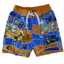 Nintendo Mario Kart Boys Orange & Blue Swim Trunks Board Shorts