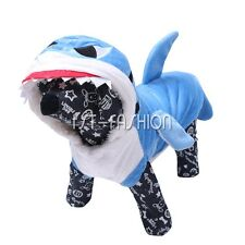 BLUE SHARK PET DOG PUPPY CAT PET HALLOWEEN NOVELTY GIFT FUNNY COSTUME OUTFITs