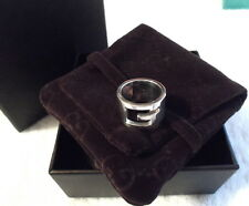 AUTH GUCCI Open G Heavy & Wide Sterling Silver 925 Choose Your Ring Size Unisex