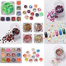 Mixed Color Plum Flower Shape Nail Art Sequins Paillette Glitter Decor Mirable