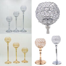 Globe Pillar Crystal Bling Votive Candle Tea Light Holder Wedding Decor 3 Sizes