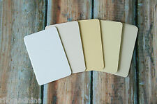 PRESTIGE cardstock DIY business cards 50pc set mix blanks eco friendly recycled