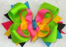 Boutique Hair Bow, Neon Hairbow, Girls Hair Bows, 5 Inch Bow, Baby Bows, Toddler