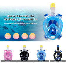 Anti-Fog Swimming Diving Full Face Snorkel Scuba Mask Surface for GoPro M / L