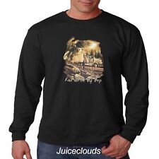 Trucker Long Sleeve Shirt Ridin' With the Big Boys Big Rig Truck Eagle Men's Tee