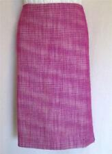 TALBOTS Fuchsia Pink White Avenue Texture Skirt 6 8 NWT Womans (MSRP $69.50)