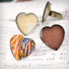 Ring Mountings Settings Engagement Heart/Round/Oval Antique Copper/Brass/Silver