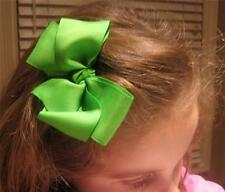 Lot set of 10 Hair Bows 5 Inch Boutique Hairbows Girls Toddler Big large Bows