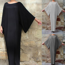 Womens Fashion Loose Batwing Sleeve Soild Dress Casual Evening Party Maxi Dress