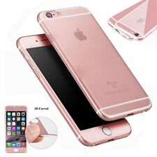 360°Full Cover Clear TPU Back Case Tempered Glass Screen Protector For iPhone 6s