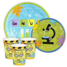 MAD SCIENCE party / Geek /  7in & 9in Paper Plates and Cups Pack