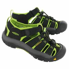 KEEN Youth Newport H2 Sandals -  Black/Lime Green - NEW