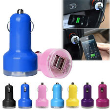 NEW Bullet Adaptor Dual USB 2-Port Car Charger For iPhone iPod Touch For Samsung