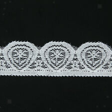 White Embroidered Tulle Lace Trim Edge Mesh Net for DIY Wedding Sewing Craft