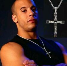 Hot!! THE FAST and The FURIOUS VIN DIESEL CROSS PENDANT  Chain Necklace