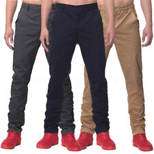 INCERUN Mens Casual Long Straight 100% Cotton Work Trousers Business Pants 30-44