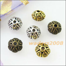 20 New Charms Round Cone Spacer Beads 7mm Tibetan Silver Gold Bronze Tone