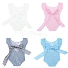 Newborn Baby Girls Kids Lace Romper Sunsuit Bodysuit Bowknot Photography Costume