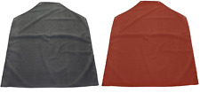 """Rubber Coated Apron Red Black 40"""" x 35"""" Minimal Risk Chemical Fat Temp Resistant"""