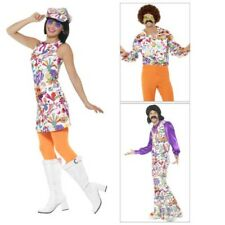 Smiffys Adult 60s Groovy Fancy Dress Costumes Suit Dress Or Shirt Hippie Outfits
