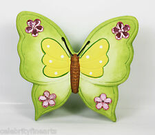 Butterfly Wall Hanging Ornament Pink Orange Green Yellow Butterflies with Jewels
