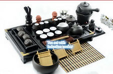 complete tea set induction cooker creative kungfu tea set solid wood tea tray