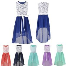 Girl Kid Dress Flower Wedding Bridesmaid Party Pageant Holiday Lace Chiffon Prom