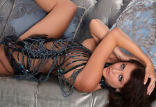 Hot Brunette In A Sheer Body Stocking - Hot Girl Photo Print - Sexy Girl Poster