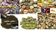 FISH FOOD FEED TABLET,WAFER,PELLETS,FLAKE,CORY PLECO TETRA PLATY GOLDFISH LOACH