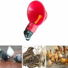 Chicken Waterer Drinking Cup Poultry Coop Bird Chook Water Drinker Automatic 5pc