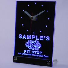tncpu-tm Pit Stop Personalized Car Racing Bar Beer Neon Led Table Clock