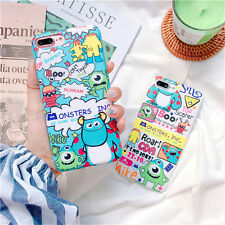 Cartoon Cute Monsters University Graffiti Soft case Cover for iPhone 8 7 6S Plus