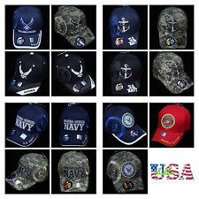 U.S. Air Force Baseball Cap USA Navy Marine Military Hats Army Licensed Camo Hat