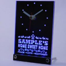 tncta-tm Personalized Custom Home Sweet Home Scottie Neon Led Table Clock