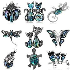 Elegant Cat Dragonfly Texture Animal Crystal Brooch Pins Jewelry Women Wedding