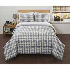 Bed in a Bag Bedding Comforter Set Grey and White