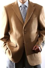 Mens Two Button Lamb Wool Cashmere Camel Sport Coat, J40912C-40934-CAM