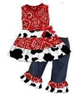 Western Wear Country Girl Cowgirl Cow Print Boutique outfit Pageant barn dance