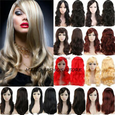 Hot Girls Long Straight Full Wig Charm Color Cosplay Costume Fancy Dress Wig ugx