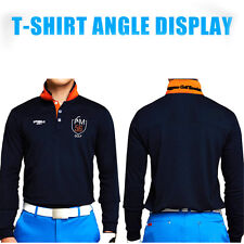 Brand Mens Outdoor Fit Polomens Golf Polo Shirts Quick Dry Long Sleeve Golf T-sh