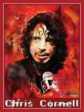 CHRIS CORNELL OF SOUNDGARDEN & AUDIOSLAVE IMMORTALIZED IN BOLD 18X24 ART POSTER
